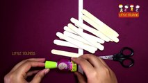 Simple And Easy Popsicle Sticks House | Ice Cream Sticks Craft Ideas | Little Soldiers