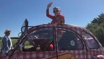 5e étape du Tour de France à bord de la 2CV limousine Cochonou