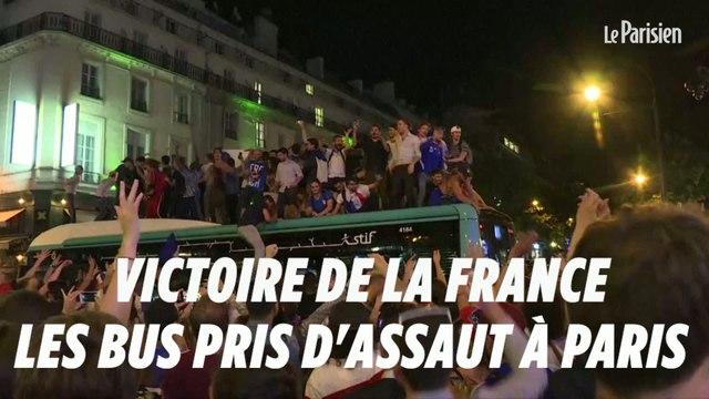 Victoire de la France : les bus pris d'assaut à Paris