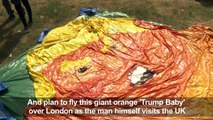 Protestors inflate 'Trump baby' ahead of UK visit protests