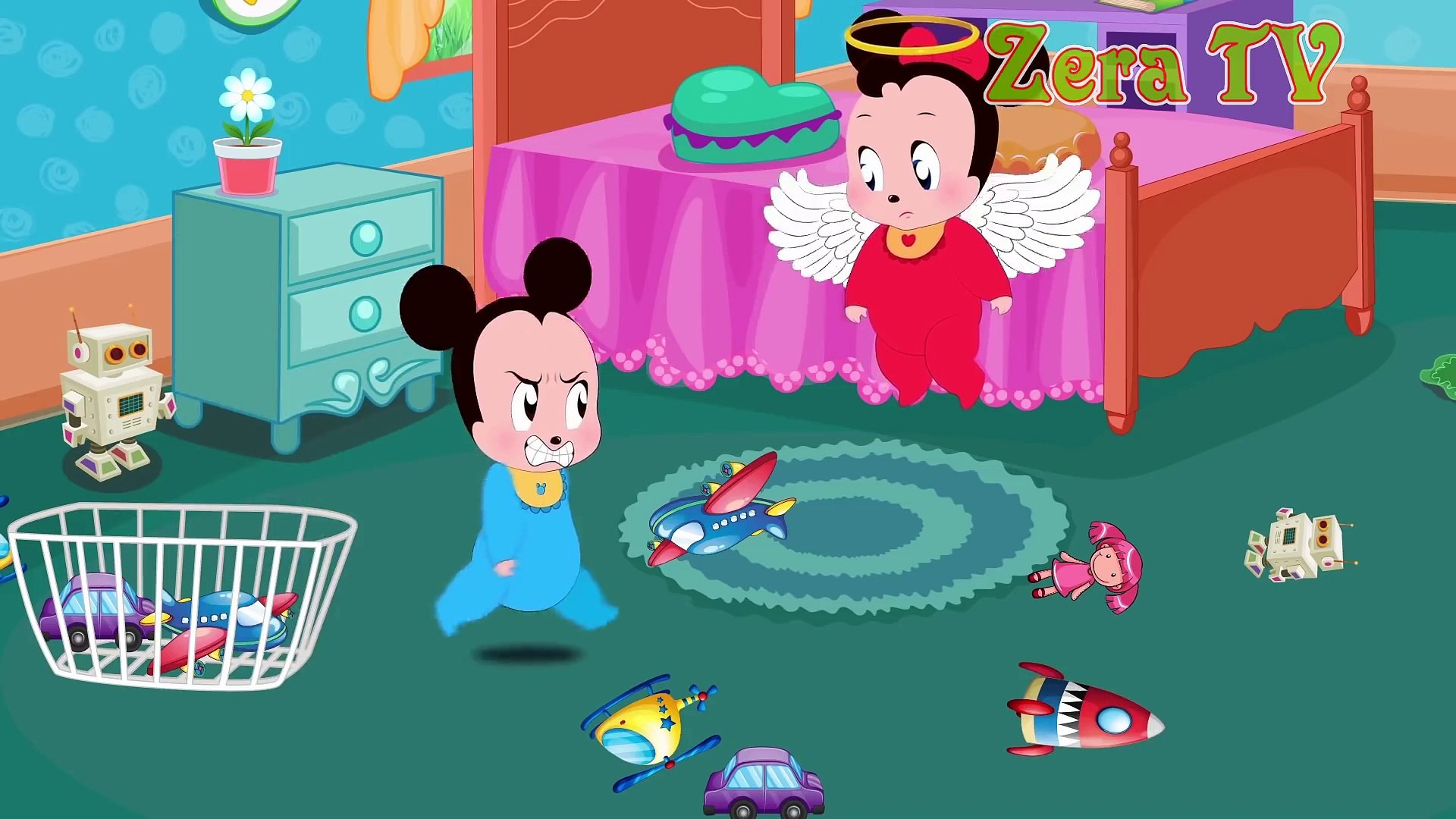 Mickey Mouse & Minnie Mouse Learn Colors Funny Story!! One Two Three Four Five Cartoon for Kids