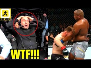 This is how Joe Rogan Reacted to Daniel Cormier Knockíng Out Stipe Miocic,Ortega on Dana White