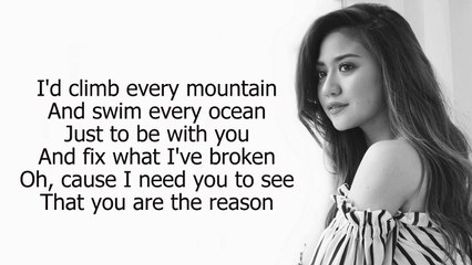Morissette and Daryl Ong : You are the reason (lyrics)