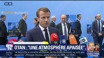 """OTAN: """"Nous allons poursuivre ce matin les travaux dans une atmosphère apaisée"""", affirme Emmanuel Macron"""