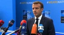 Déclaration d'arrivée du Président de la République, Emmanuel Macron au sommet de l'OTAN à Bruxelles