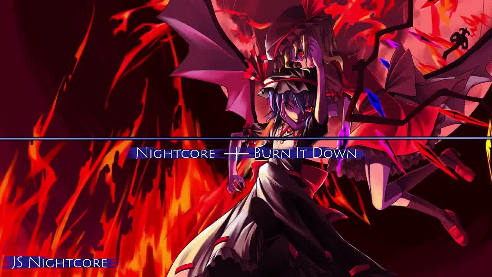 Nightcore ─┼─ Burn It Down, Music 2016, Remix Video,Epic, Music Gaming,Music Video Project