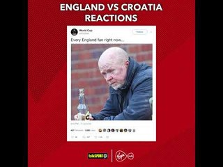 How Twitter reacted to England going out the World Cup