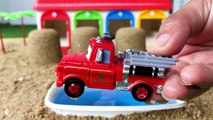 Learn Colors for Childrens with Disney Cars Toys - Cars 3 Tow Mater, Doc Hudson & Water Color