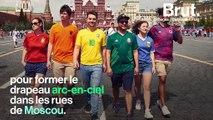 En Russie, un drapeau arc-en-ciel peu ordinaire pour dénoncer la répression subie par les homosexuels