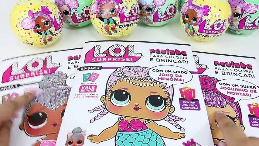 Boneca Lol Surprise Colorindo Revista Lol Com Desenhos E Atividades Cherry E Brr Doll Series 2
