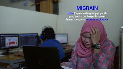 MIGRAIN - Definisi,Penyebab & Faktor Resiko Migrain (Sakit Kepala)