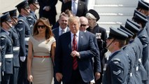 Donald Trump Arrives In Britain For First Visit As U.S. President