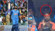 India vs England 1st ODI: MS Dhoni Congratulates Rohit Sharma after Hitting Century |वनइंडिया हिंदी