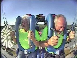 Senior Citizen Couple Rides Slingshot