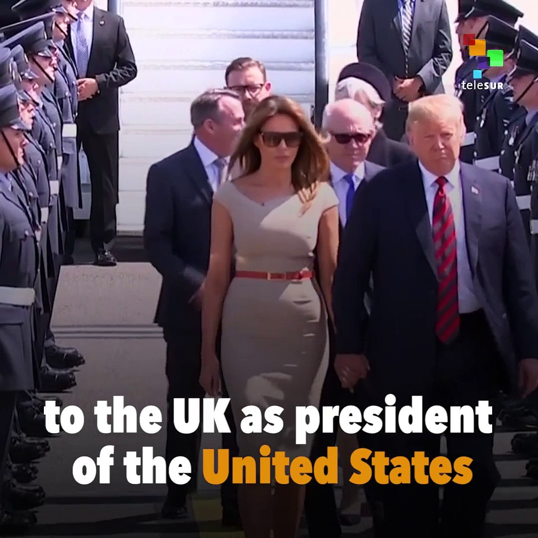 U.K. Welcomes Trump with Big Baby Trump Blimp