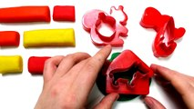 Play Doh Rainbow Colors Molds Squirrel Hare Dog Fun Animals! Learning Video for Kids by Kids Club