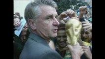 Info / Actu Loire Saint-Etienne - A la Une : La finale de la Coupe du Monde de football c'est dimanche! Les habitants de Sail-sous-Couzan, la ville d'Aimé Jacquet attendent avec impatience une nouvelle coupe comme en 1998.