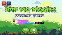Bad Piggies Online Flash Game - Bad Pig Piggies Drive Helicopter Levels 1-5 - Rovio Games