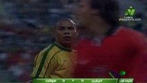 الشوط الاول مباراة البرازيل و هولندا 1-1 نصف نهائي كاس العالم 1998