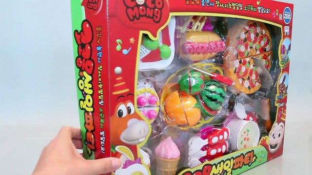 Velcro Cutting Fruits, Pizza, Cake, Ice cream Food Cooking Toy Đồ chơi trẻ em 소꿉놀이와 뽀로로 타요 폴리 장난감