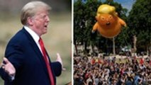 Trump in London: Massive Protests, Standoff with CNN | THR News