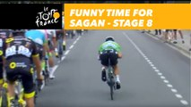 Peter Sagan s'amuse / Funny Time for Sagan - Étape 8 / Stage 8 - Tour de France 2018