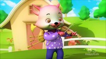 Hey Diddle Diddle | Cat Song & Rhymes | 3D Nursery Rhymes for Kids | Hippy Hoppy Show I 30 Mins