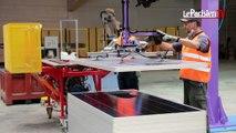 Dans l'usine géante de recyclage des panneaux solaires