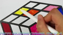 How To Draw Rubiks Coloring Rubiks Cube Kids Drawing and Coloring Videos Art Learning for Kids