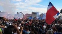 Les bleus champions du monde, la fan zone en délire