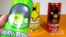 ANGRY BIRDS Soft Drinks Opening Coke, Green Apple and Vitamin Flavor – 3S