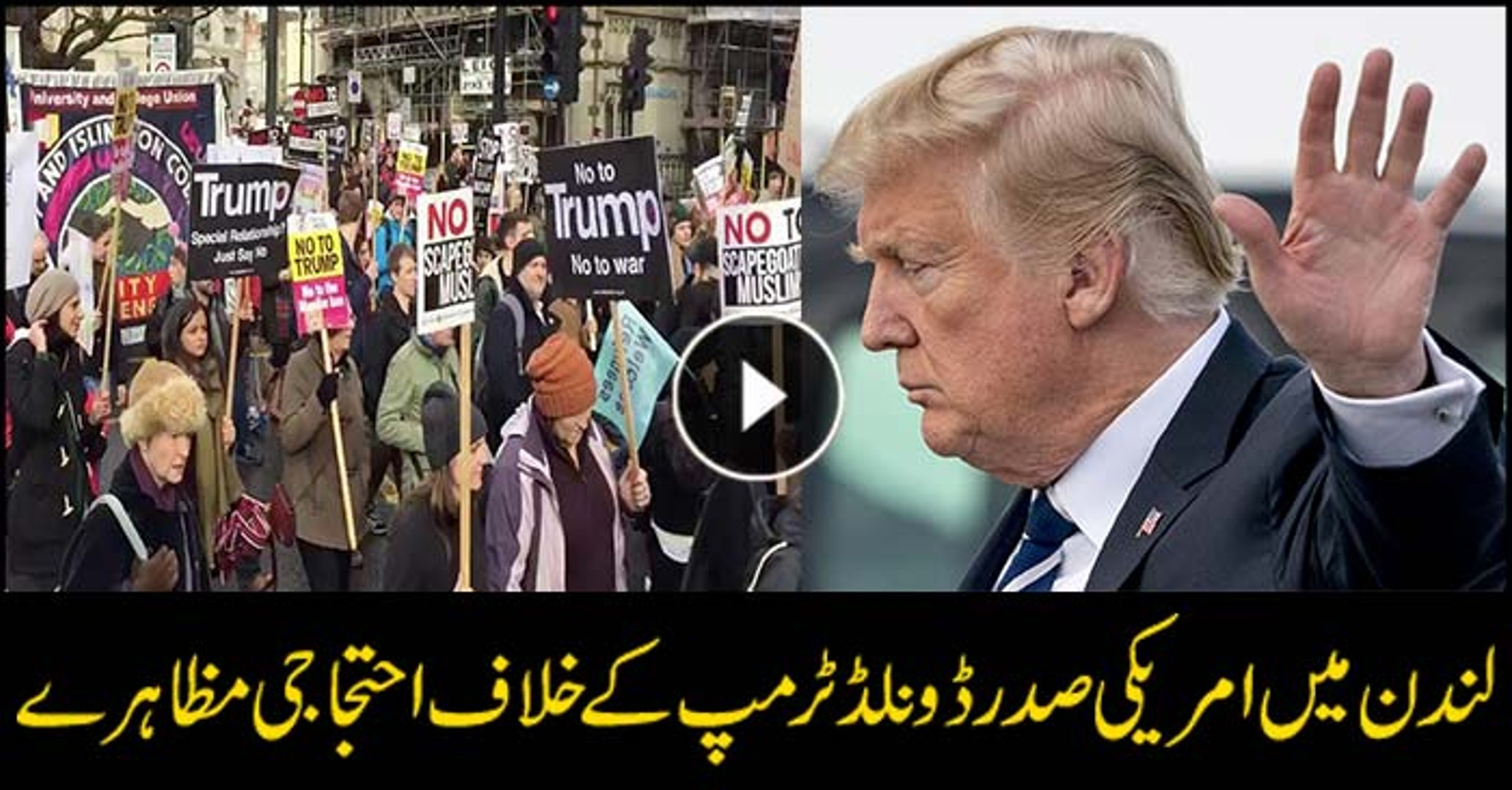 Strikes in London against US president Trump