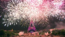 Fireworks wrap up France Bastille Day celebration