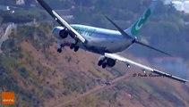 Un atterrissage très compliqué pour cet avion... Impressionnant
