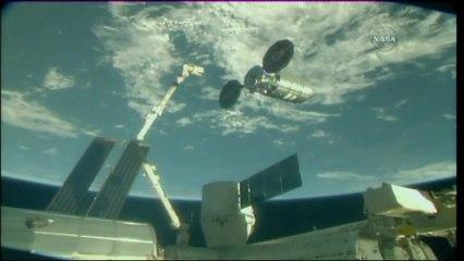 Cygnus OA-9 Departs the International Space Station