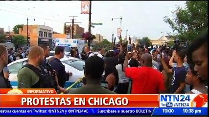Violentas manifestaciones en Chicago por la muerte de un afroamericano a manos de un policía