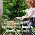 This foldable bike lock clips to your jacket and is easy to travel with ♀️Check out their Kickstarter Campaign here!