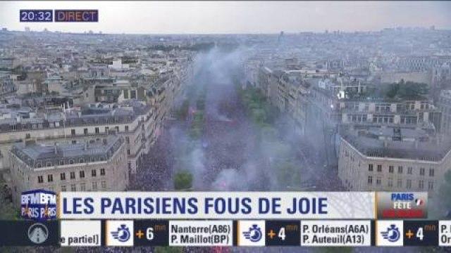 La France championne du monde: écoutez le boucan d'enfer et de joie sur les Champs-Elysées