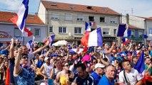 Lexy : la joie des supporter français  explose  à la fin du match