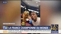 Mondial: sur les réseaux sociaux, les Bleus partagent leur fierté d'avoir remporté la coupe