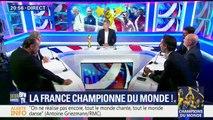 De l'émotion aussi sur le plateau. Ce soir c'était la dernière émission de Jean-Baptiste Boursier et de Jean-Michel Larqué sur BFMTV