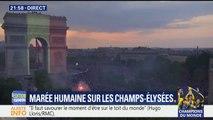 Coupe du monde: l'Arc de Triomphe en bleu-blanc-rouge pour célébrer la victoire des Bleus
