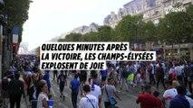 Quand les Champs-Elysées explosent de joie au coup de sifflet final