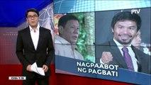 Pres. #Duterte, nagpaabot ng pagbati kay Pacquiao