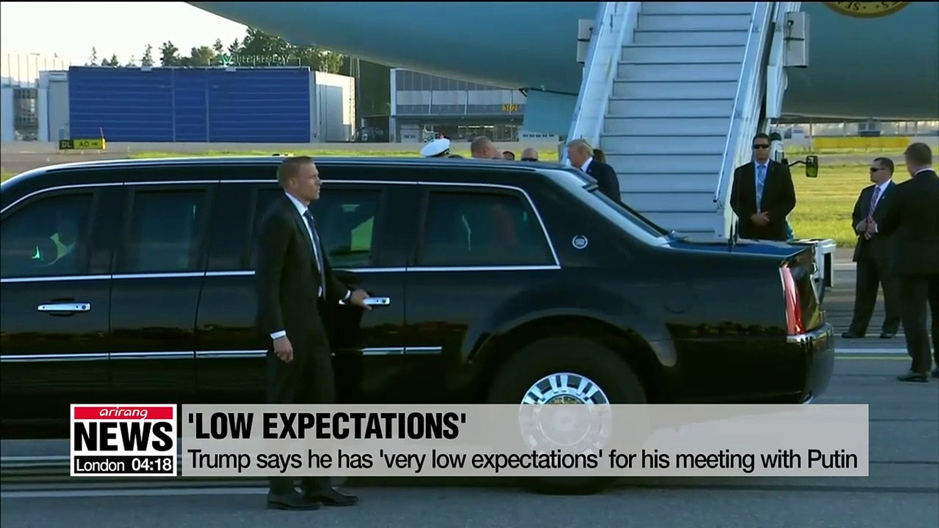 Trump strikes pessimistic tone before summit with Putin in Helsinki