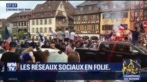 Clapping, klaxons, chants… vos images de célébrations partout en France après la victoire des Bleus