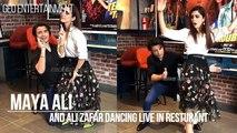 Maya Ali Dancing With Ali Zafar Live in Restaurant_HD