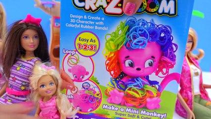 CraZLoom Cra Z Art 3D Rubber Rainbow Monkey Band Loom Hair Craft Kit Cookieswirlc Video