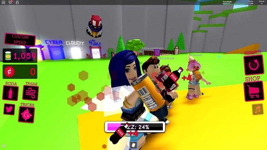 We Beat The World Record Roblox Soda Drinking Simulator Dailymotion Video