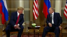 Trump Meets Putin In Helsinki, Shakes Hands